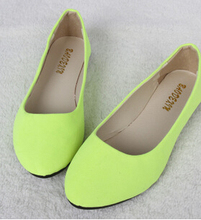 20 Colors available 2016 fashion Soft shoes for female women flat shoes round toe daily casual shoe Plus Size FB0048(China (Mainland))