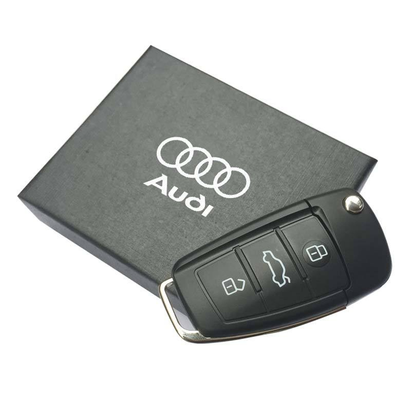 8GB 16GB 32GB 64GB USB 2.0 Car Key Pendrives Model Flash Memory Stick Storage Usb Flash Drive For Audi In Gift Box Pen Drive(China (Mainland))