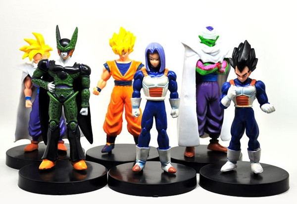 "New Hot High quality 4.7"" 6pcs PVC Dragonball Dragon Ball Z Action Figures Anime Cartoon Character gift Collection toy set(China (Mainland))"