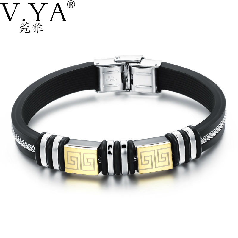 Fashion Men Woman Unisex Leather Bracelets stainless steel Bracelet female male jewelry PB932 - VYA Jewelry Official Store store
