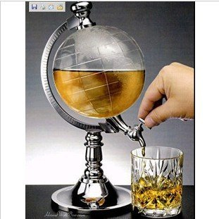 Creative simulation globe water dispenser, mini beer machine, new drink machines, fashionable bar points wine