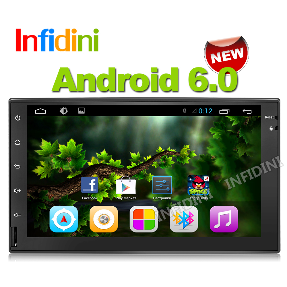 Infidini android 6.0 car dvd gps player 1024*600 gps navigation radio video player stereo wifi 4G BT 2 din xtrail x-trail gps(China (Mainland))