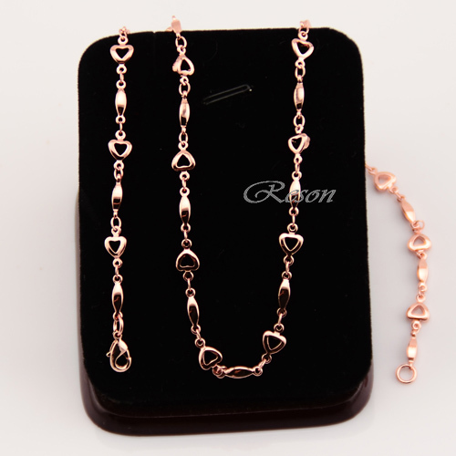 1pcs Womens Rose Gold Filled Necklaces 18K Short Chains Heart Accessories Wholesale Retails Jewelry(China (Mainland))