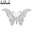 Very Low Prices  New Fashion Jewelry hollow butterfly brooch crystal brooch jewelry wedding party gifts