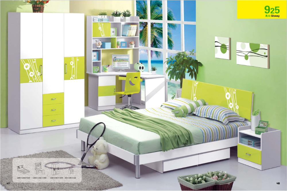 4 pcs children bedroom furniture sets girl boy children
