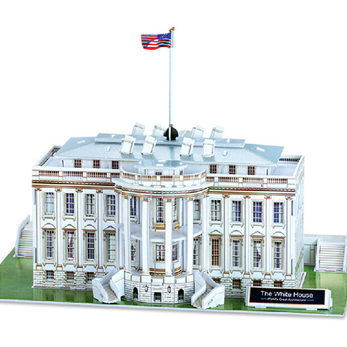 The White House 3D Paper Model,Cubic Fun Diy Jigsaw Puzzle,Best Educational toys for Kids,6605,Free Shipping(China (Mainland))