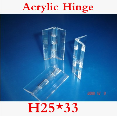50PCS/LOT 25*33 Acrylic Hinge , Transparent Hinge , Plexiglass Hinge , organic glass hinge 25x33mm ,furniture accessory(China (Mainland))