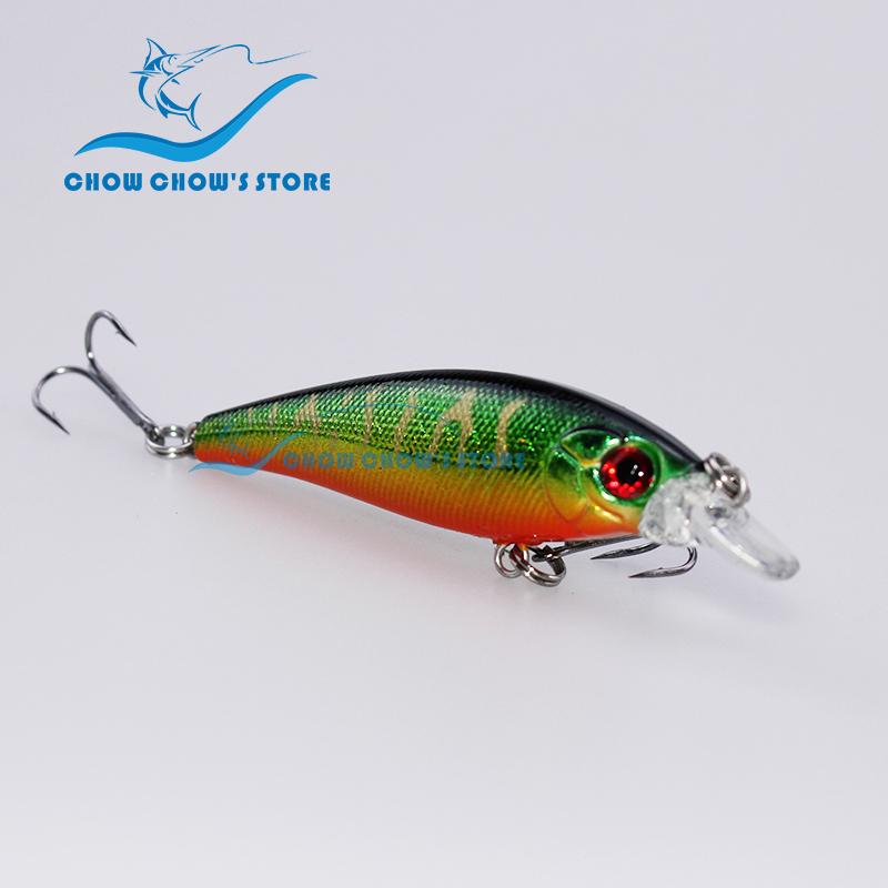 7.4cm 7g  Fishing Lure Artificial Bait Plastic Hard Fishing Lure Fishing Bait Minnow with Treble Hooks pesca<br><br>Aliexpress