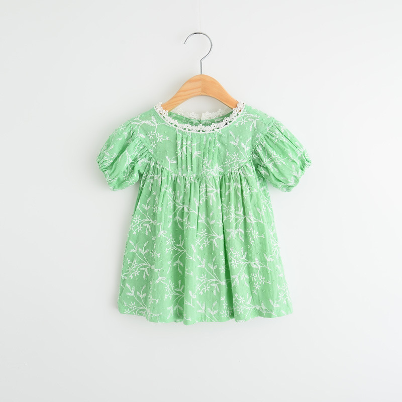 NEW 2016 Baby Girls Crochet Lace Collar Shirts Kids Girl Cotton Floral Blouse Girl Princess Jumper Tops Childrens  Clothing<br><br>Aliexpress