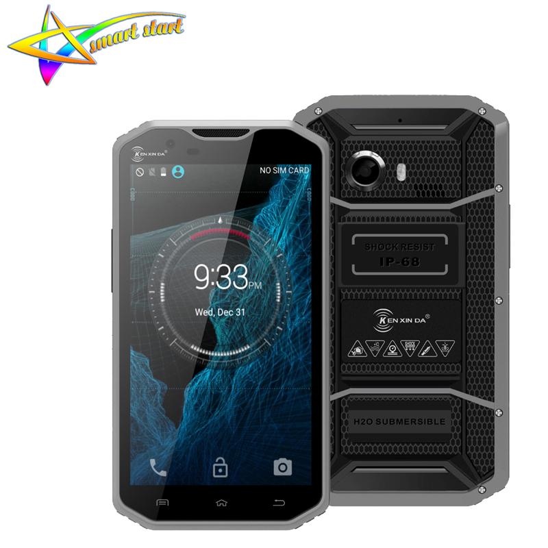 Original KEN XIN DA Proofing W8 Smart Phone Waterproof 5.5 inch Andriod 5.1 MTK6753 Octa Core RAM 2GB ROM16G 4G LTE Mobile Phone(China (Mainland))
