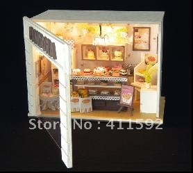 3D puzzle model, miniature doll house,play house toy puzzle miniature free shipping ornaments for cakes(China (Mainland))