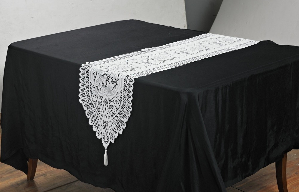 13x54 inch or 33x137 cm lace crochet modern table runners(China (Mainland))