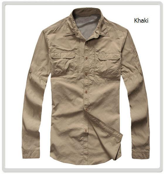Men outdoor fun shirt men sport long sleeve shirt quick for Mens outdoor long sleeve shirts