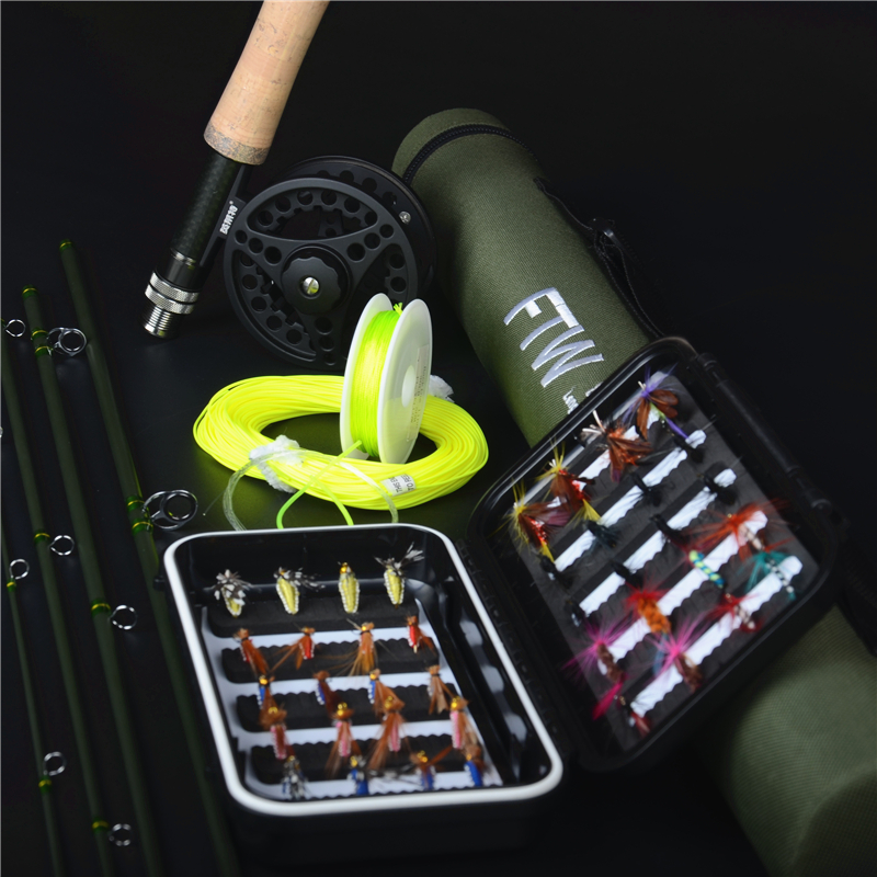 F t w 30 carbon 2.7 meters 5/6#  5section fly fishing rod lure rod fishing tackle set fly fishing<br><br>Aliexpress