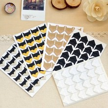 10 sheets/ lot (240 pieces) 5 Colors DIY Vintage Corner Paper Stickers for Photo Albums Frame Decortion Free shipping 604
