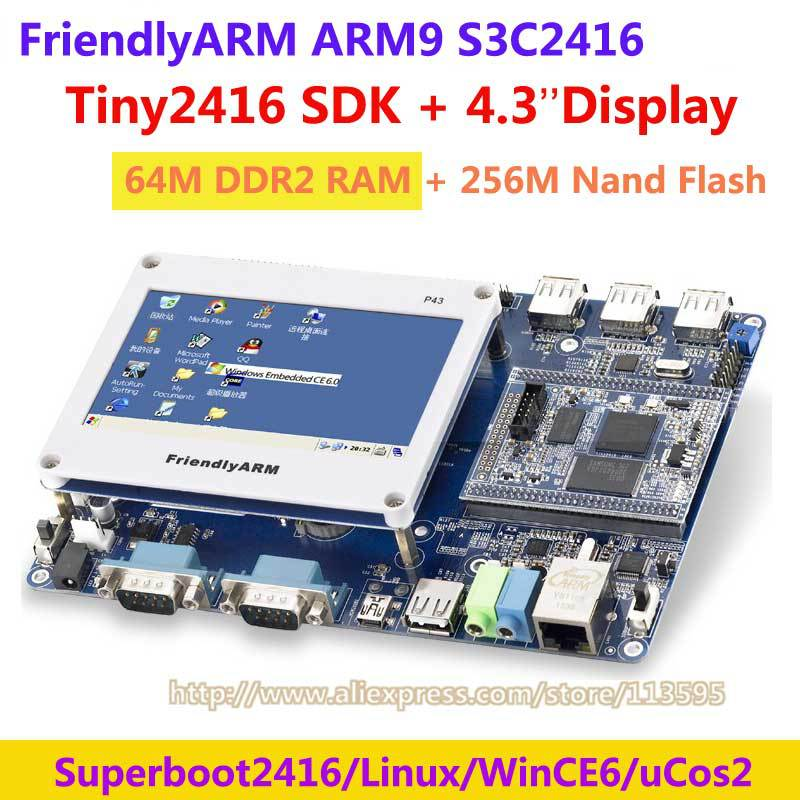 FriendlyARM ARM9 TINY2416 + 4.3 inch touch screen , 64M Ram 256M Nand Flash, S3C2416 Development Board ARM kit , Linux Wince6(China (Mainland))