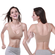 Women Ladies Sports Vest Bra Tops Underwear Seamless Slim Casual Push Up Bra Size M-XL