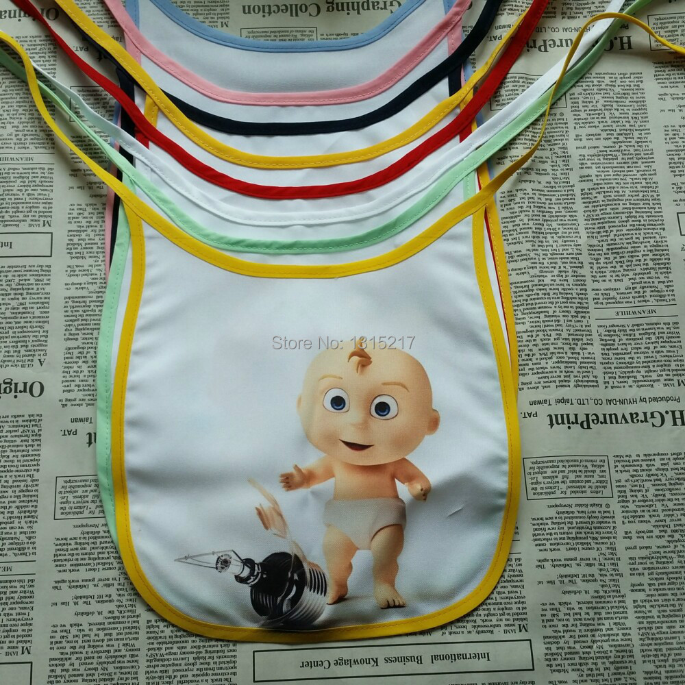 sublimation heat transfer polyester material waterproof baby bib(China (Mainland))