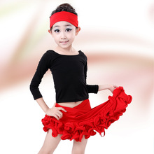 Buy Free Latin Salsa Dance Dresses Kids Girls Stage Performance Ballroom Dancing Clothes Children Tango Cha Cha Costume for $20.87 in AliExpress store