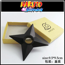 Anime Cartoon Naruto Plastic Small Shuriken Japanese Cosplay Weapon Props 1:1 size Boxed PVC Anime Action Figure Free shipping