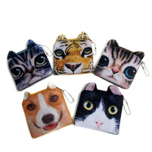 Hot Sale Designer Wallet Quartet Cartoon Coin Purse Cute Cat Dog Tiger Figures Sex Unlimited Coin Bag BG-0551