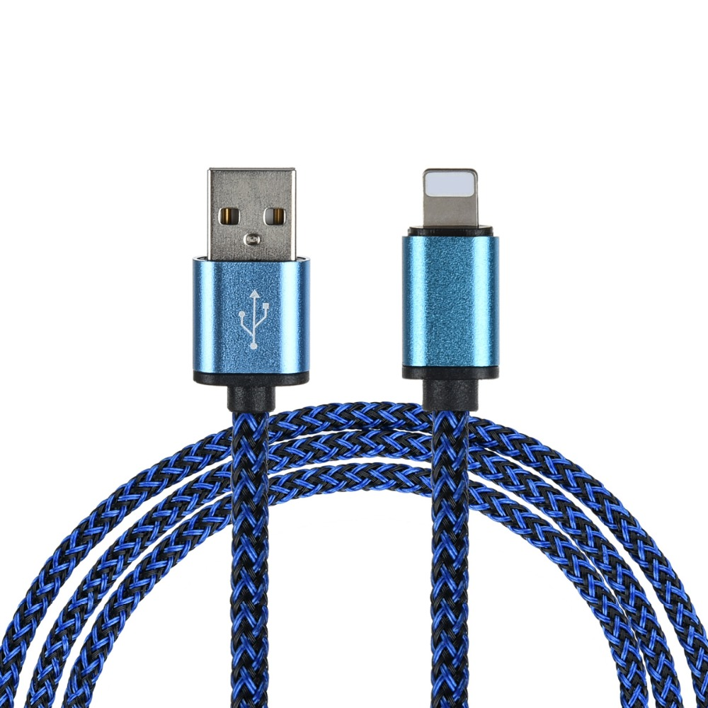 USB Data Charger Cable Nylon Braided Wire Metal Plug Micro USB Cable for iPhone 6 6s 7 7s Plus 5s 5 iPad mini Data Cable(China (Mainland))