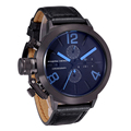 Steel Watches men luxury brand Sport Watch quartz watches Leather black Military wristwatch chronograph Water Resistant