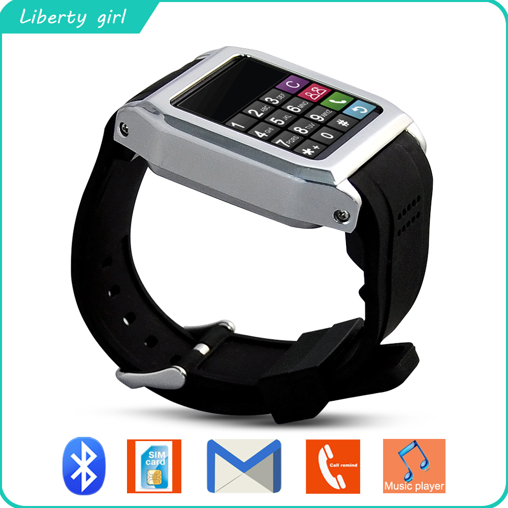 Newest High Quality Wristwatches Android System Bluetooth Smart Watch Sync Phonebook Alarm For iPhone Samsung HTC New