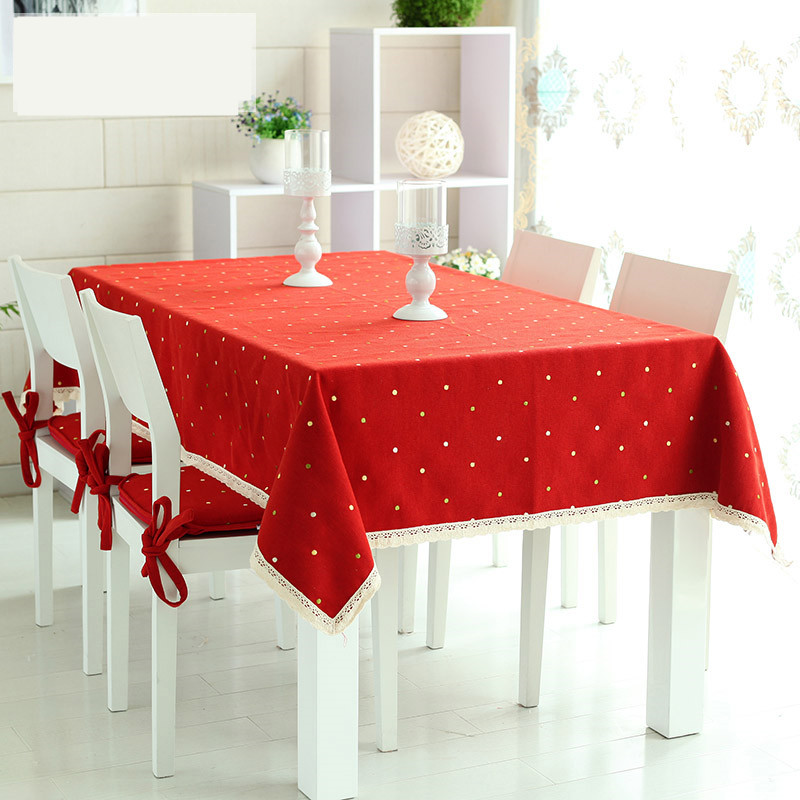 2016 new fashion 1pc customizable fabric embroidered pastoral home restaurant bar 3 colors table cloth 140x140 140x180 140x220(China (Mainland))
