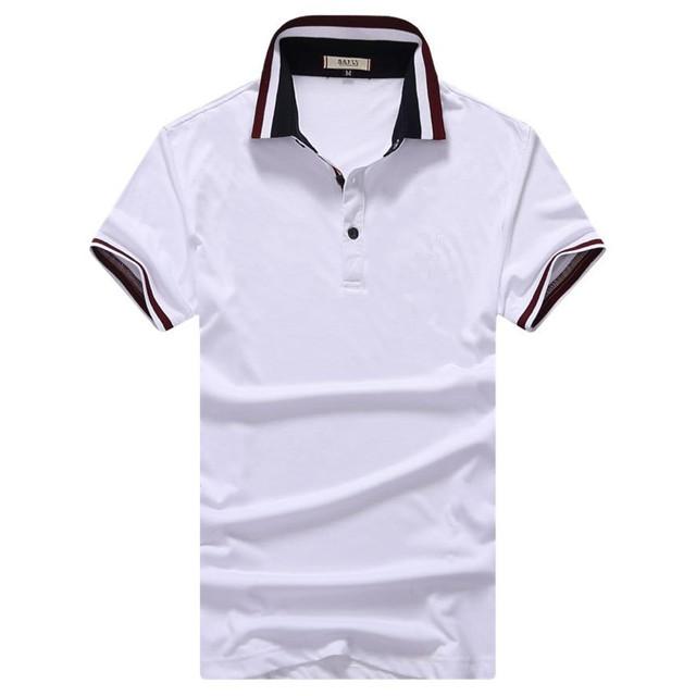 2016 новые люди марка поло мода дышащий хлопок сплошной с коротким рукавом Camisa ...