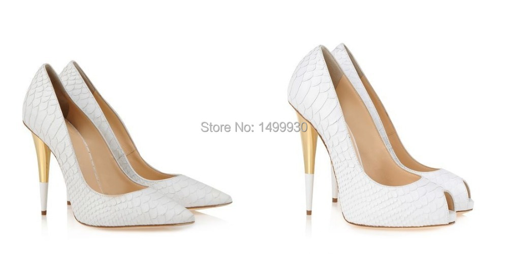White Cheap Heels - Qu Heel