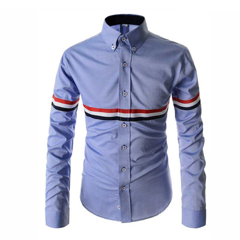 2015 new arrival striped shirt men autumn fashion mens for Slim fit mens shirts casual