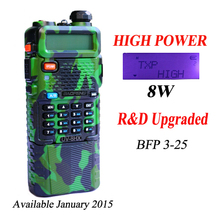 radio walkie talkie BAOFENG UV-8HX camo camoflage color built in 3800 battery