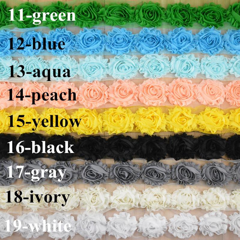 Free shipping , 30 Yards Shabby Chiffon Flowers YOU PICK colors Wholesale Bulk - DIY Headband Wedding Invitation FlowersОдежда и ак�е��уары<br><br><br>Aliexpress