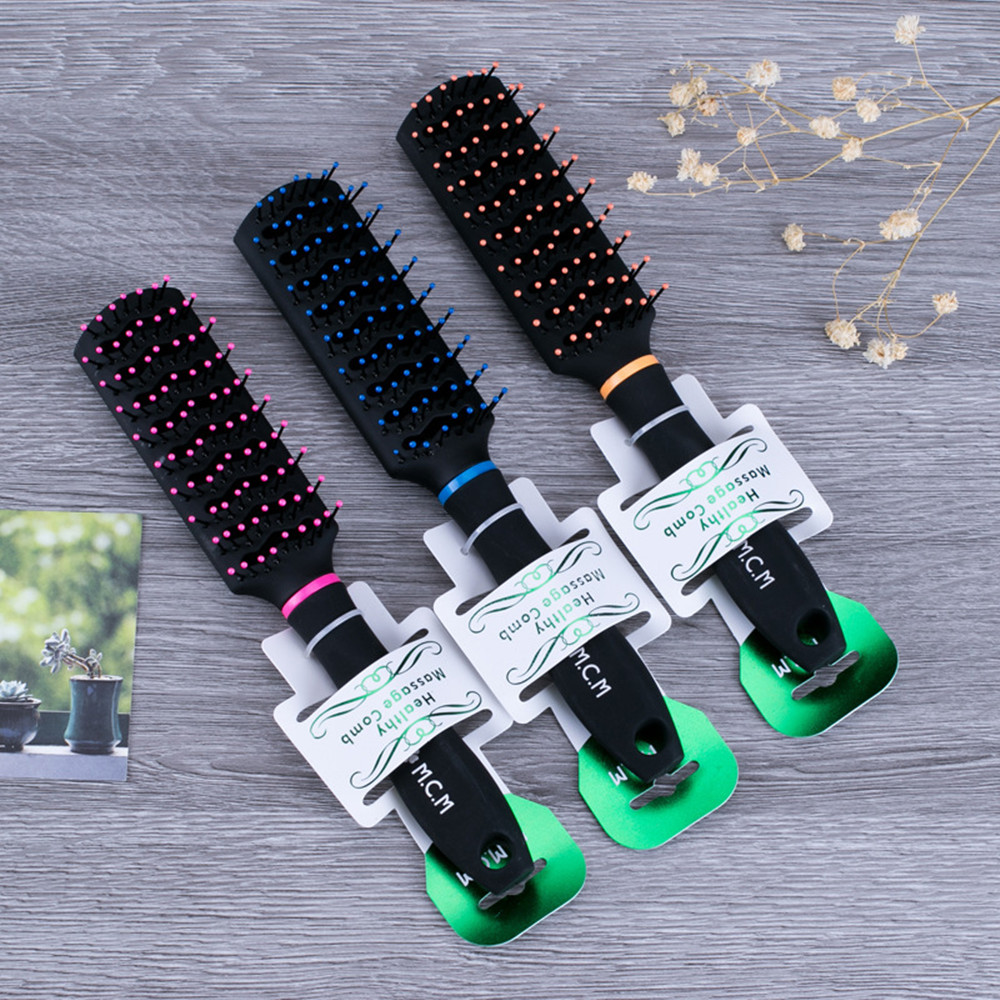 High Quality Scalp Massage Comb 3 Color Mixed Hair Hair Curls Comb Send Elders The Best Gifts Health Care Tools(Hong Kong)