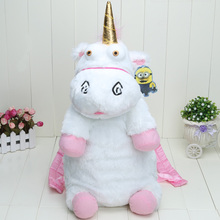 Despicable Me Fluffy Unicorn Plush Backpack Large 50cm New Back Pack Doll Toys Bag(China (Mainland))