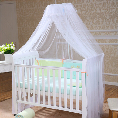 2015 Hot Sale Baby Crib Canopy Tent Kids Crib Mosquito Net White Color Baby Infant Kids Bed Net Cortina Para Cama Dossel(China (Mainland))