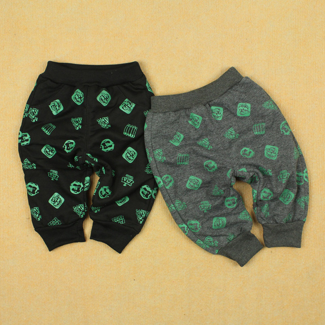 Winter short in size male child girls clothing boy infant print trousers baby polar fleece fabric trousers