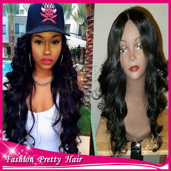 Fashion Products Long Wavy Lace Front Wig Virgin Brazilian Glueless Lace Front Human Hair Wigs With Baby Hair For Black Women