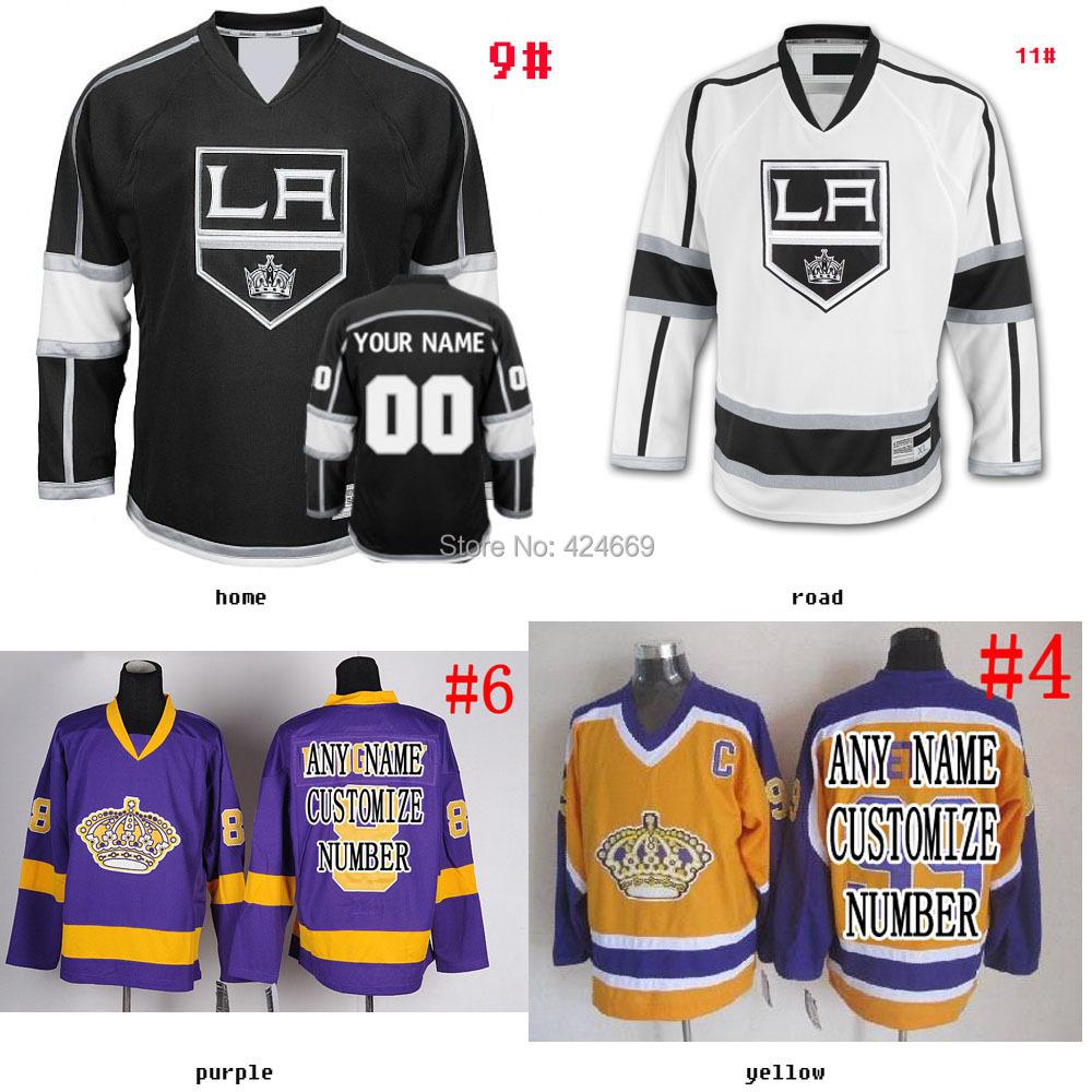 Custom men & youth los angeles kings Jerseys Home/Away/Alternate cheap hockey jerseys Embroidery Logo NO.& Name Sewn YL-6XL