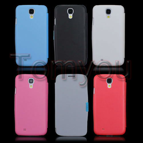 Deluxe Magnetic Flip PU Leather Case Hard Cover For Samsung Galaxy SIV S4 I9500 Free Shipping