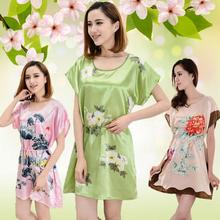 New Women Sleepwear Pajamas Sleeve Short Sleepshirt Sleepdress(China (Mainland))