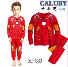 2105 boys girls Spider Man super man set children s clothing full pants shirts Pijamas Baby