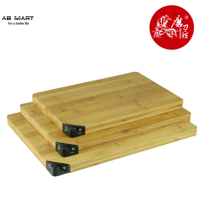 TAIDEA 2015 New Style Atural 360*260mm Square Bamboo Cutting Board With Knife Sharpener Big Bamboo Bhopping Board T0924T(China (Mainland))