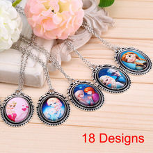 2014 New fashion vintage design mix Frozen cartoon pendants long chain necklace jewelry gift for women girls dress accessories