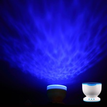 1pc Led Night Light Projector Ocean Daren Waves Projector Projection Lamp With Speaker Ocean Waves master New Arrival(China (Mainland))