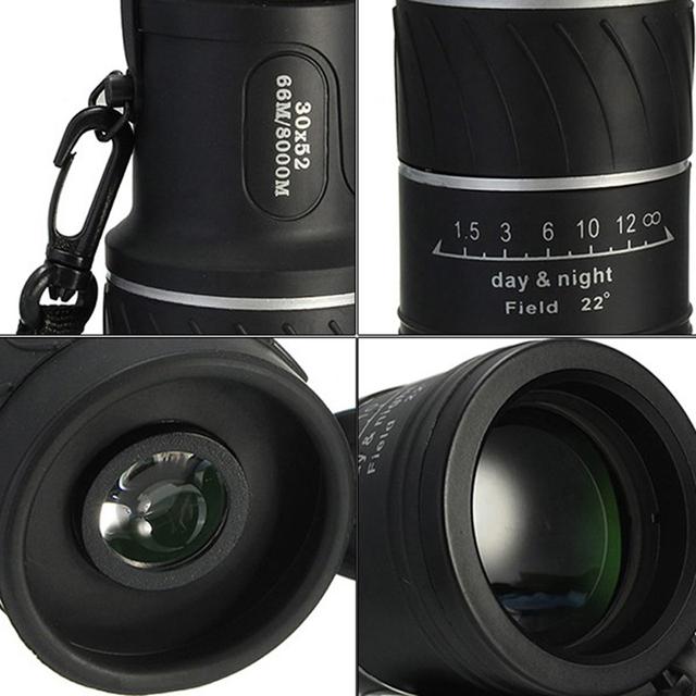 30X52 Mini Dual Optic Lens Monocular Telescope