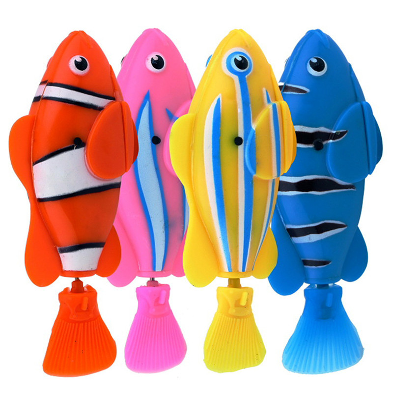 4 pcs lot free shipping robofish activated battery powered for Robot fish toy