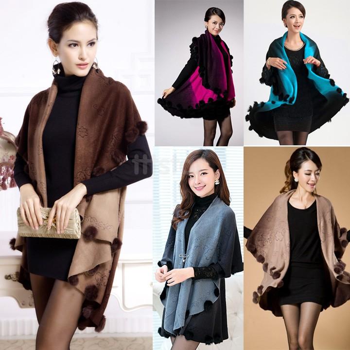 Lady Loose Bat Cardigan Sweater Women Luxury Shawl Cloak Women Cardigan Sweater Wrap Cape Bat Coat Top Coat Jacket 12(China (Mainland))
