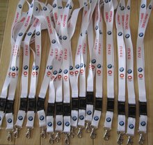 """300ps/lot   3/4"""" free shipping polyester custom neck lanyard sublimated  LOGO printed with rotate buckle and metal hook(China (Mainland))"""